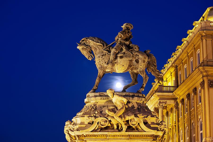Statue Photograph - Prince Eugene Of Savoy Statue At Night by Artur Bogacki
