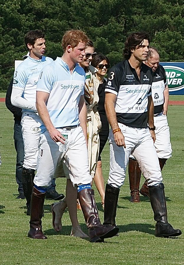 Prince Harry and Nacho Figueras by Russ Considine
