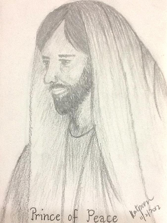 Prince Drawing - Prince Of Peace by Kat Poon