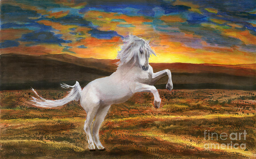 Landscape Painting - Prince Of The Fiery Plains by Peter Piatt