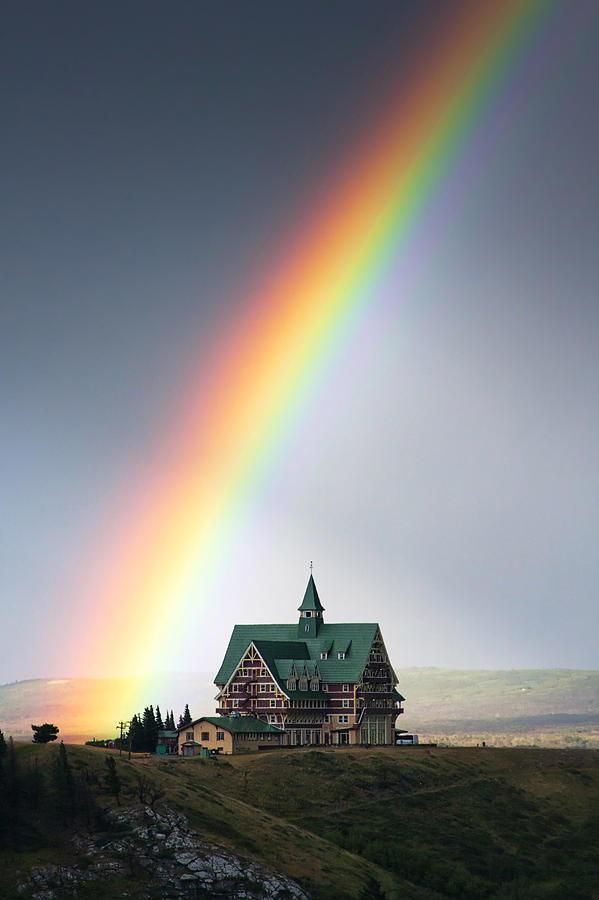Prince Of Wales Hotel Photograph - Prince Of Wales Rainbow by Mark Kiver