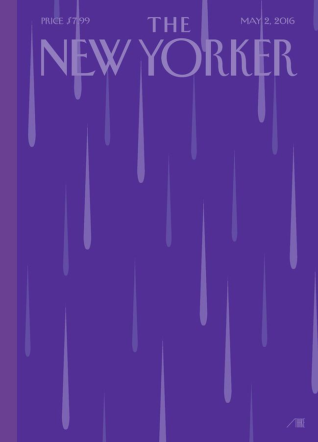 Purple Rain Painting by Bob Staake