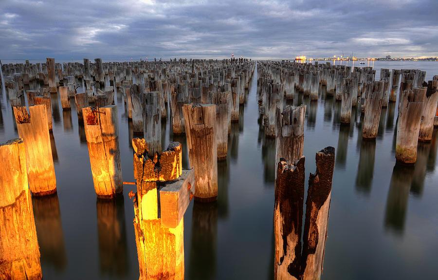 Pier Photograph - Princes Pier by Damian Morphou