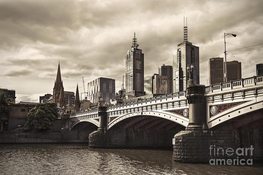 Melbourne Photograph - Princess Bridge by Andrew Paranavitana