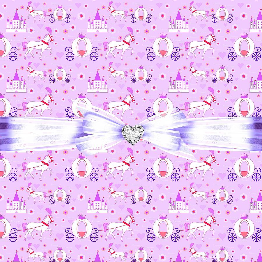 Hearts Digital Art - Princess Celebration by Debra  Miller