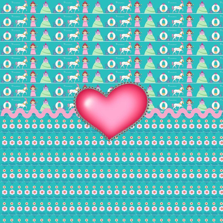 Hearts Digital Art - Princess by Debra  Miller