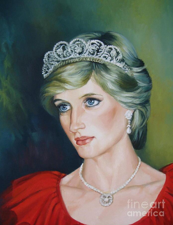 Portrait Painting - Princess Diana by Elena Oleniuc