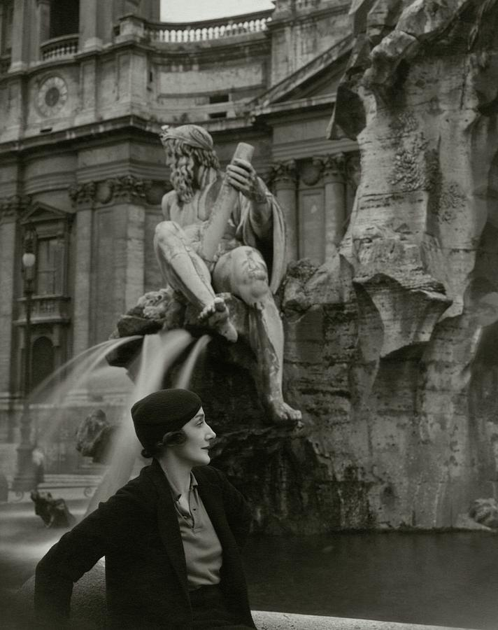 Princess Eugenio Ruspoli In Rome Photograph by George Hoyningen-Huene