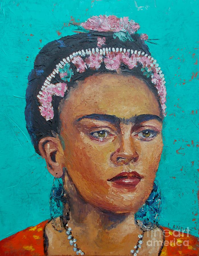 Woman Painting - Princess Frida by Lilibeth Andre