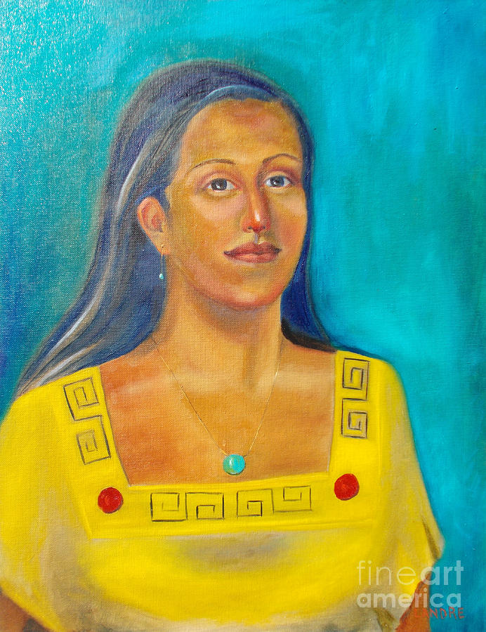 Aztec Painting - Princess Izta by Lilibeth Andre