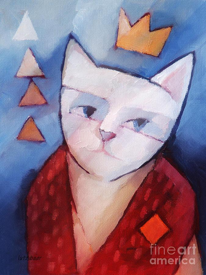 Cat Painting - Princess by Lutz Baar
