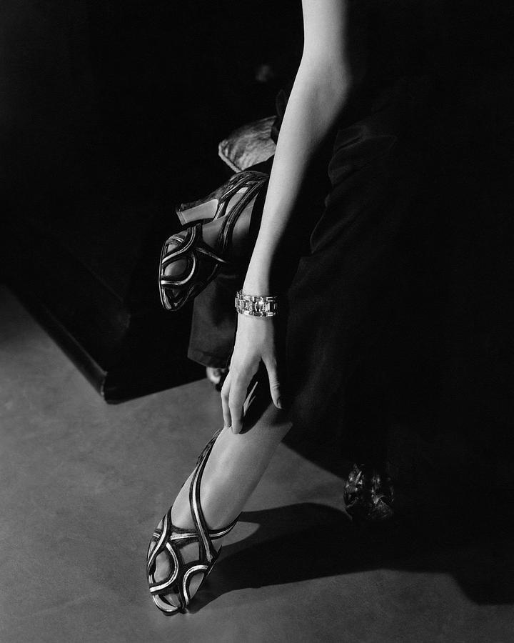 Princess Nathalie Paley Wearing Shoecraft Sandals Photograph by Edward Steichen