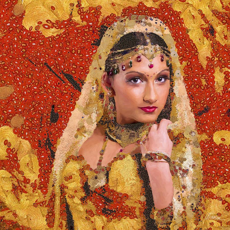 Gustav Klimt Painting - Princess Of Spice by Marina Likholat