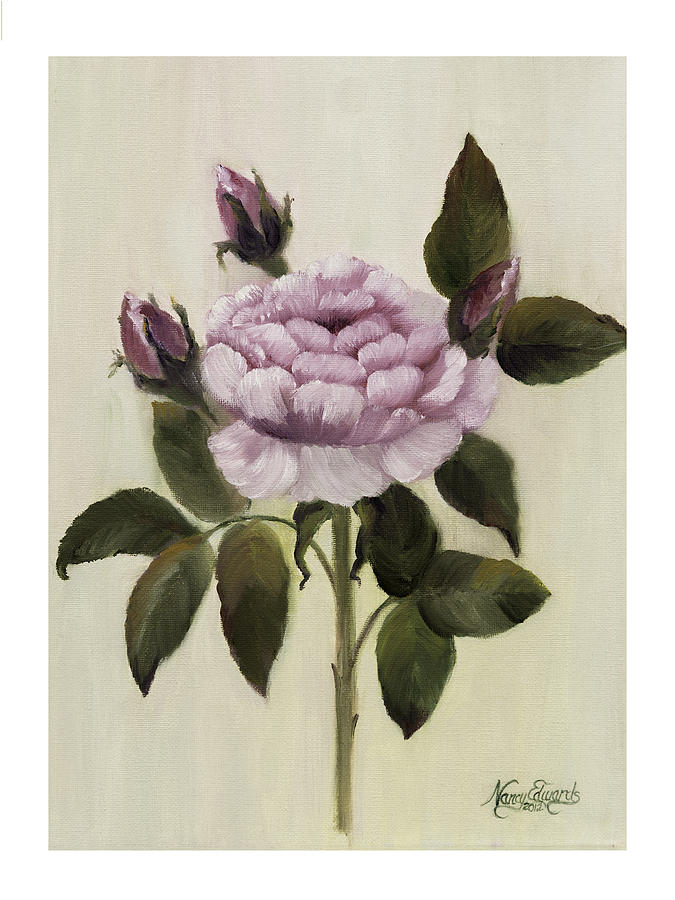 Flower Painting - Princess Rose by Nancy Edwards