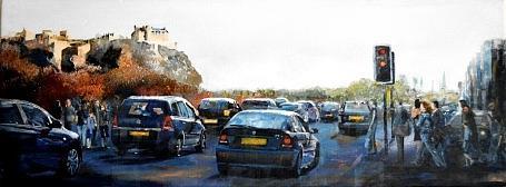 Princess Street Edinburgh Painting by Paul McIntyre