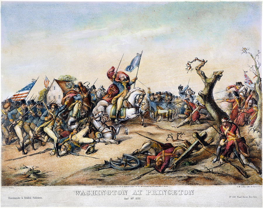 1777 Photograph - Princeton: Washington by Granger