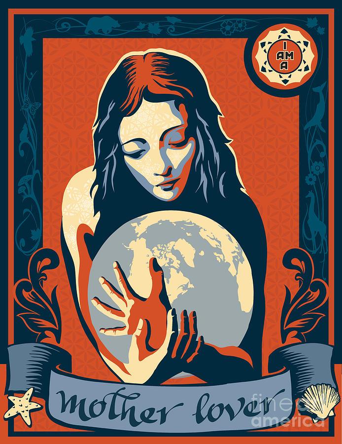 Gaia Painting - Print by Sassan Filsoof