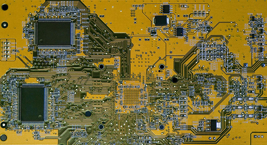 Printed Circuit Board Photograph by Russell Shively