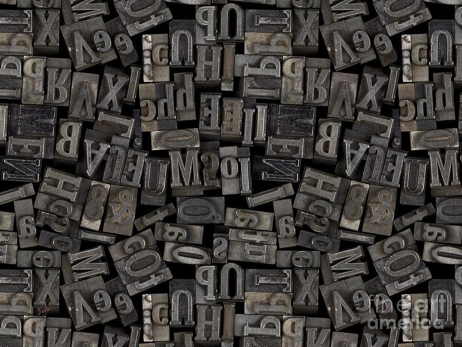 Printing Digital Art - Printing Letters 2 by Bedros Awak