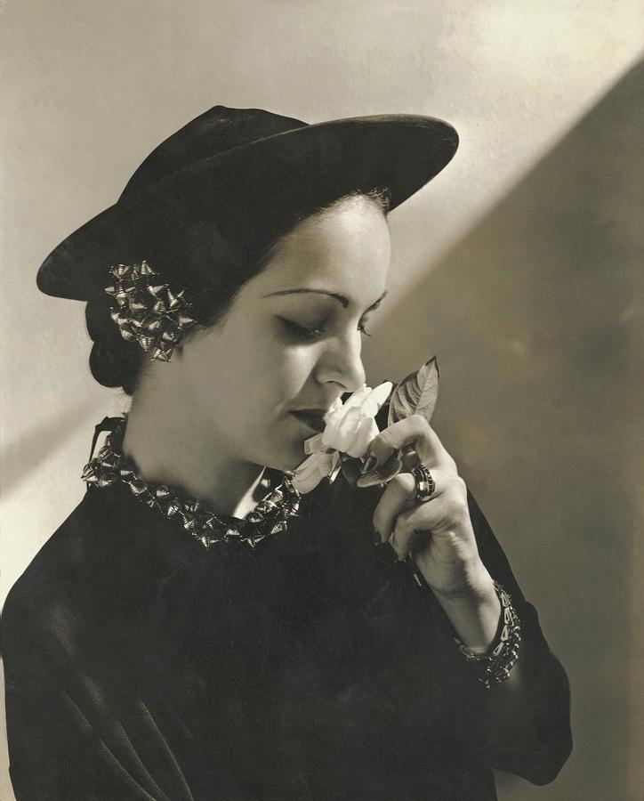 2d8b0cdeb8a Personality Photograph - Priscilla Lawson Wearing A Lilly Dache Hat by  Edward Steichen