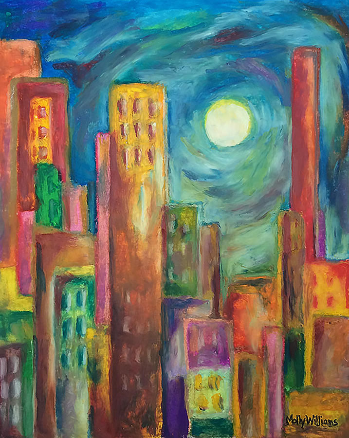 Prismatic Cityscape by Molly Williams