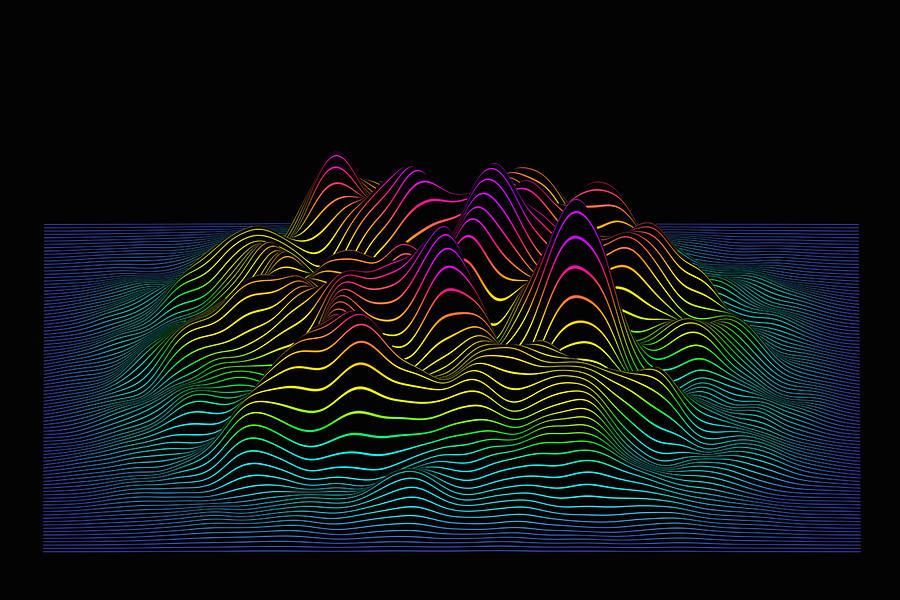 Prismatic Line Landscape Drawing by Jorg Greuel