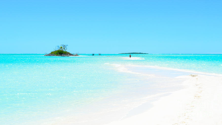 Tropical Photograph - Pristine Tropics - An Sand Bar Leading To A Small Island In The Pacific by David Hill