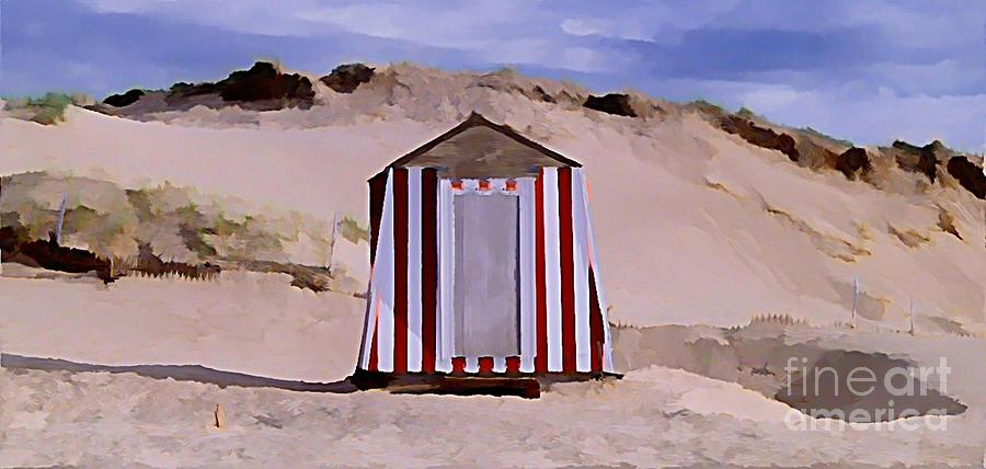 Sandy Beach Painting - Privacy by John  Malone