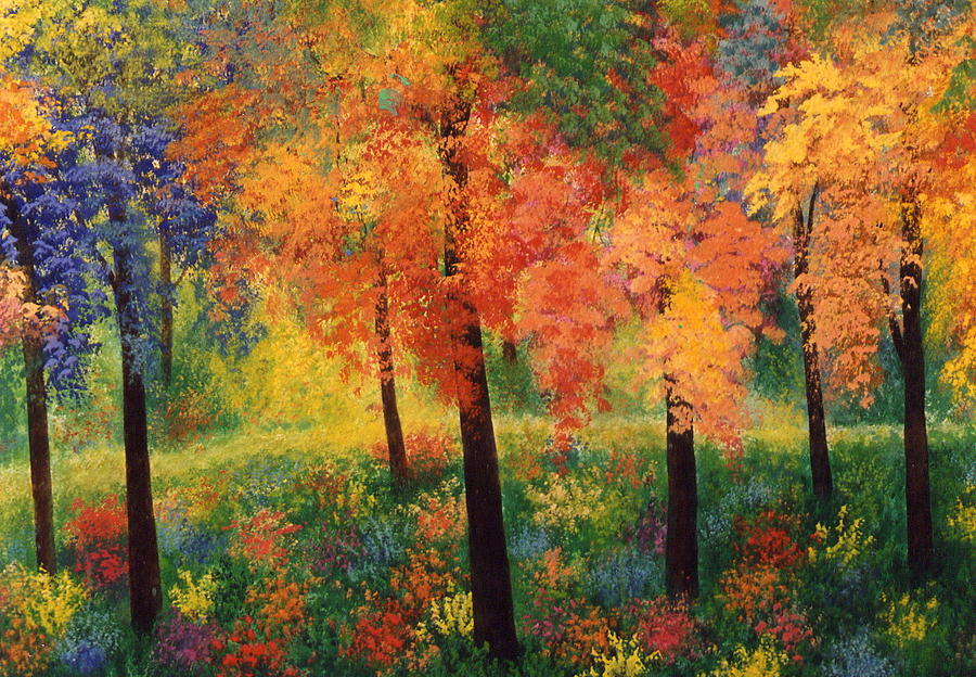 Trees Painting - Private Club by Jacqueline De Maillard
