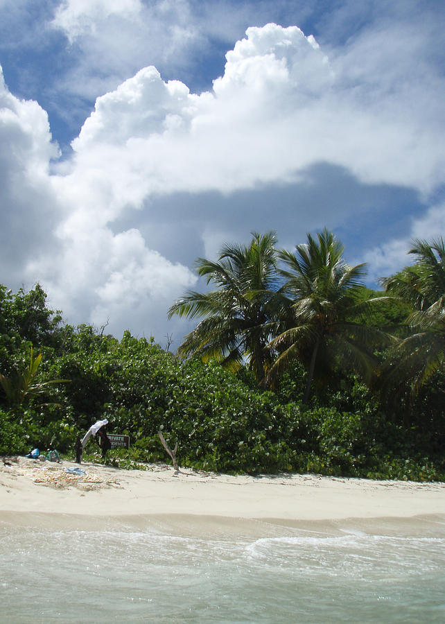 Private Beach Photograph - Private Residents Only by Russell  Anderson
