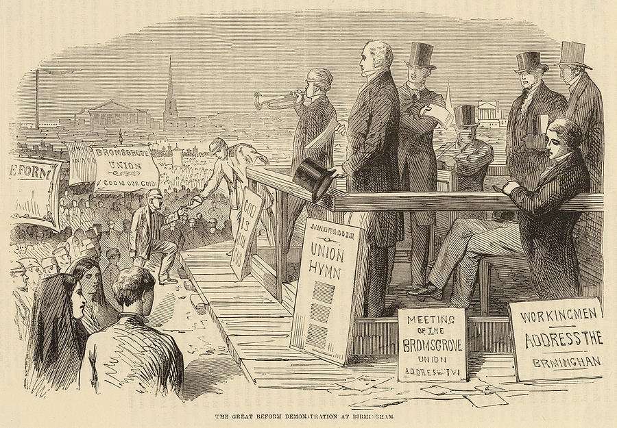 Reform Drawing - Pro-reform Leaders Address  Political by Mary Evans Picture Library