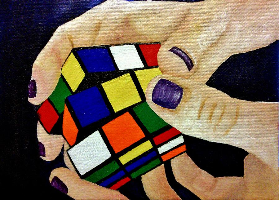 Rubik's Cube Painting - Problem Solving by Crystal  Menicola