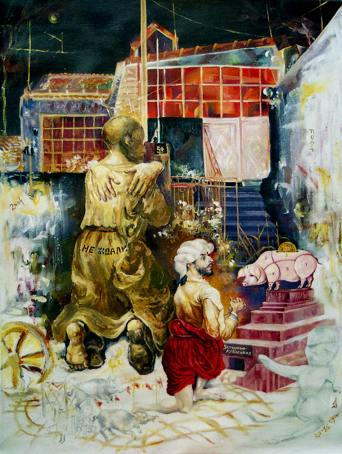 Nekoda Singer Painting - Prodigal Son by Nekoda  Singer