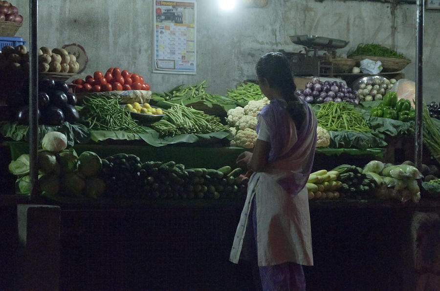 Pune Photograph - Produce Shop And The Owner by Scott Lenhart