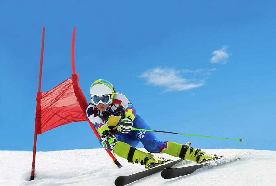 Professional Female Ski Competitor At Photograph by Technotr