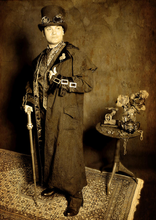 Steampunk Photograph - Professor Phineas Aentheros by Evan Butterfield