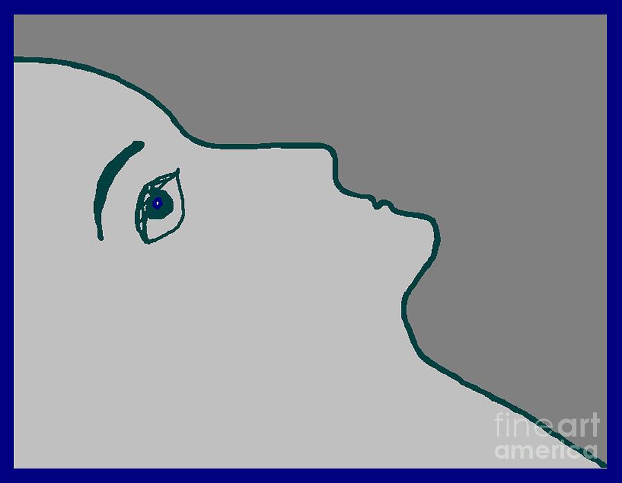 Minimalist Digital Art - Profile by Meenal C