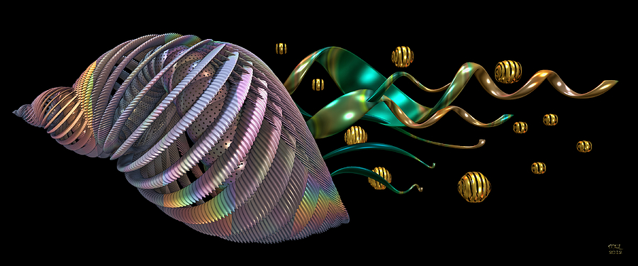 Abstract Digital Art - Progeny by Manny Lorenzo