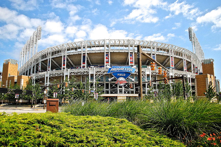 Jacobs Photograph - Progressive Field by Frozen in Time Fine Art Photography
