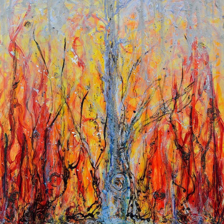 Tree Painting - Prometheus by Regina Valluzzi