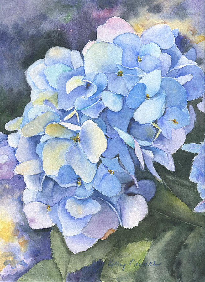 Hydrangea Painting - Promise by Kathy Nesseth