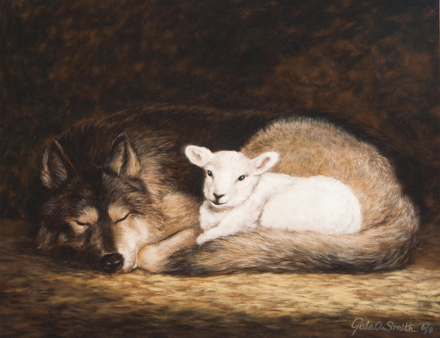 Wolf Pastel - Promise Of Peace by Gale Smith