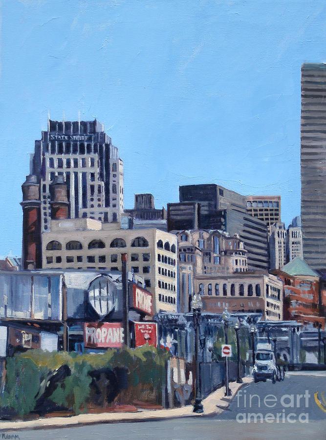 Boston Painting - Propane by Deb Putnam