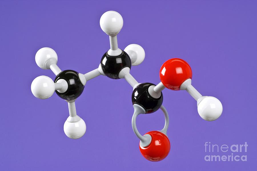 Propanoic Acid Photograph - Propanoic Acid by Martyn F. Chillmaid