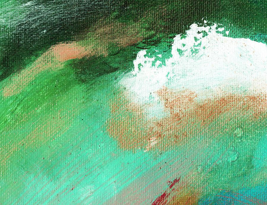 Abstract Painting - Propel Aqua Green by L J Smith
