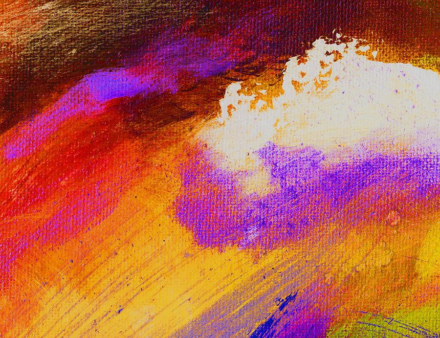 Abstract Painting - Propel Golden by L J Smith