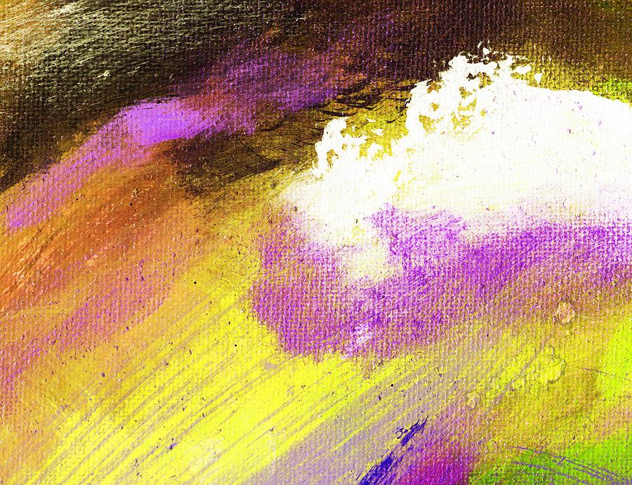 Abstract Painting - Propel Yellow Purple by L J Smith