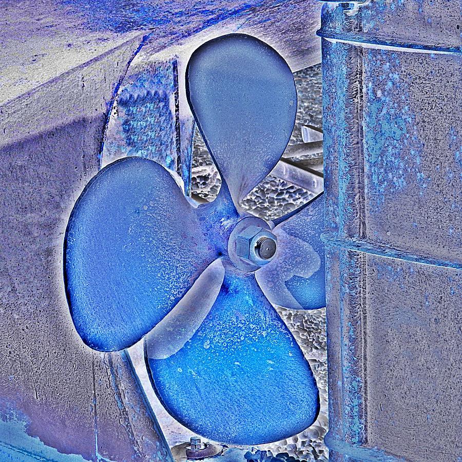 Boat Propeller Photograph - Propeller Blue by Sharon Lisa Clarke