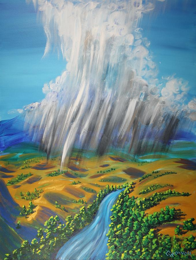 Rain Painting - Prophesy My Reign  My River by Gary Rowell