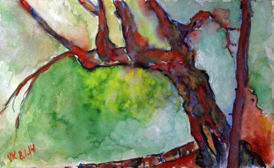 Landscape Painting - Prospect Park - Tree  by Vladimir Kezerashvili